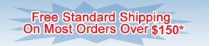 Free Standard Shipping On Most Orders Over $150